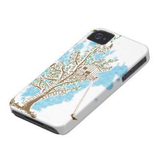 Caso del iPhone 4 de la casa en el árbol Case-Mate iPhone 4 Funda