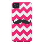Caso del iPhone 4 de la casamata -- Bigote rosado iPhone 4 Carcasas