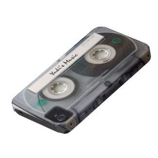 Caso del iphone 4 de la cinta de casete iPhone 4 Case-Mate protectores
