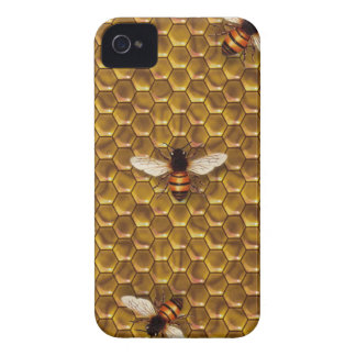 Caso del iPhone 4 de la colmena de la abeja Funda Para iPhone 4 De Case-Mate