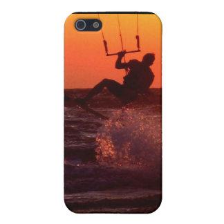 Caso del iPhone 4 de la cometa que practica surf iPhone 5 Carcasas