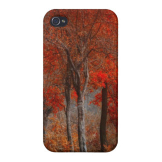 Caso del iPhone 4 de la escena del bosque del vint iPhone 4/4S Funda