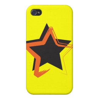 Caso del iPhone 4 de la estrella de la diva iPhone 4 Protectores