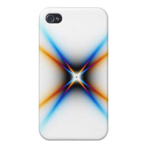 Caso del iPhone 4 de la estrella del fractal iPhone 4 Fundas
