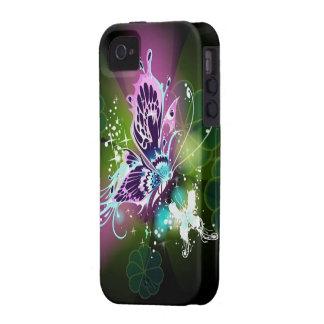 Caso del iPhone 4 de la fantasía de la mariposa iPhone 4 Fundas
