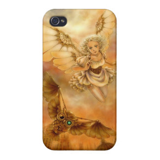 Caso del iPhone 4 de la fantasía de Steampunk iPhone 4 Protectores