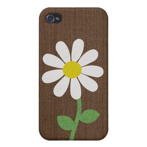 Caso del iphone 4 de la flor de la margarita iPhone 4/4S carcasas