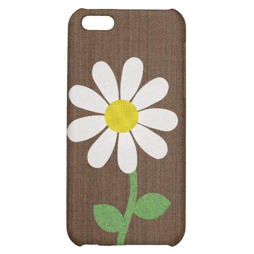 Caso del iphone 4 de la flor de la margarita