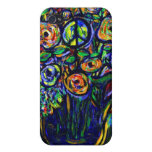 Caso del iphone 4 de la flor de la paz iPhone 4 carcasas