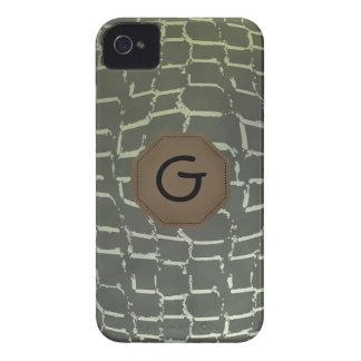 Caso del iPhone 4 de la impresión del cocodrilo iPhone 4 Case-Mate Cobertura
