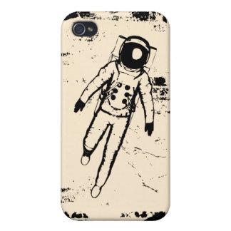 Caso del iPhone 4 de la luna que camina retra iPhone 4 Carcasa