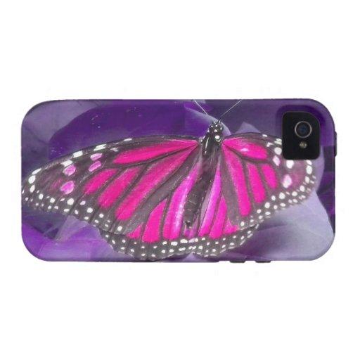 Caso del iPhone 4 de la mariposa de monarca de las Vibe iPhone 4 Carcasas