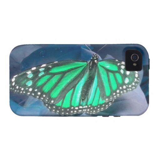 Caso del iPhone 4 de la mariposa de monarca del ve iPhone 4 Funda