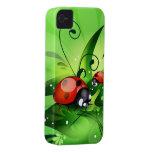 Caso del iPhone 4 de la mariquita de la mariquita iPhone 4 Case-Mate Protectores