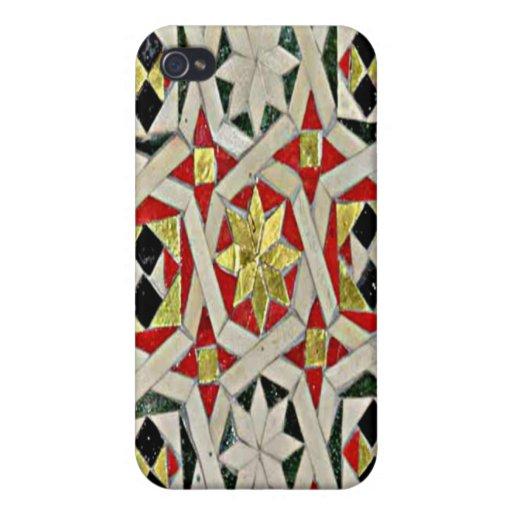 Caso del iPhone 4 de la mota de la teja de mosaico iPhone 4 Cárcasas