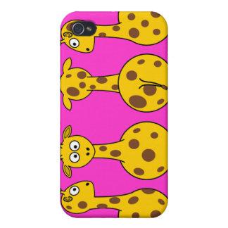 Caso del iPhone 4 de la mota de las jirafas del di iPhone 4/4S Carcasas