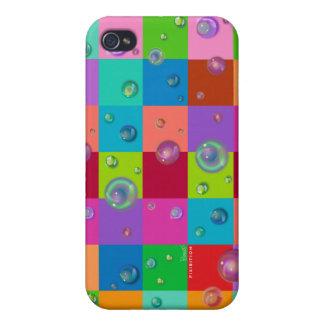 Caso del iPhone 4 de la mota del color de la burbu iPhone 4/4S Carcasas