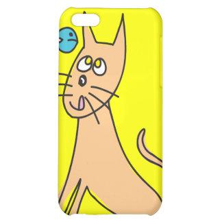 Caso del iPhone 4 de la mota del gato y de los pes
