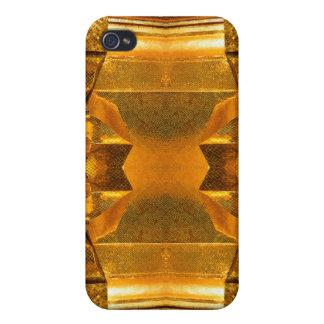 Caso del iPhone 4 de la mota del mosaico del oro iPhone 4 Coberturas