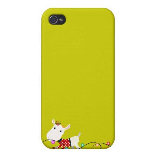 Caso del iPhone 4 de la mota del niño de la cabra  iPhone 4 Carcasas