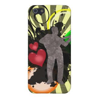 Caso del iPhone 4 de la música del amor iPhone 5 Funda