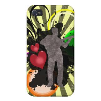 Caso del iPhone 4 de la música del amor iPhone 4 Cárcasa