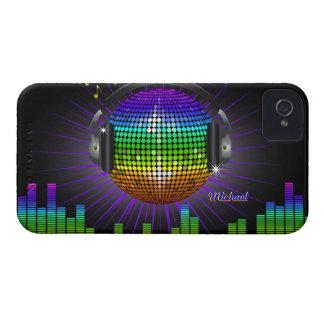 Caso del iPhone 4 de la música del disco de DJ Case-Mate iPhone 4 Coberturas