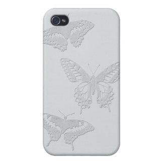 Caso del iPhone 4 de la naturaleza (mariposas azul iPhone 4 Cobertura