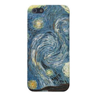 Caso del iPhone 4 de la noche estrellada de Van Go iPhone 5 Carcasas