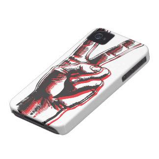 Caso del iPhone 4 de la paz iPhone 4 Case-Mate Cárcasas