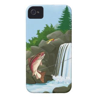 Caso del iPhone 4 de la pesca con mosca de la truc Case-Mate iPhone 4 Cobertura