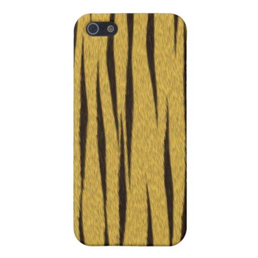 Caso del iPhone 4 de la piel del tigre iPhone 5 Fundas