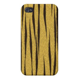 Caso del iPhone 4 de la piel del tigre iPhone 4 Carcasa