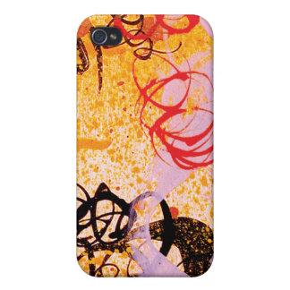 Caso del iPhone 4 de la pintada del remolino de Ho iPhone 4 Fundas
