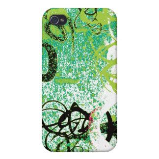 Caso del iPhone 4 de la pintada del remolino de Ho iPhone 4/4S Fundas
