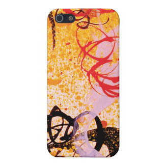 Caso del iPhone 4 de la pintada del remolino de iPhone 5 Funda