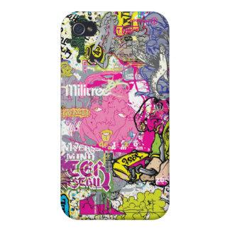 Caso del iPhone 4 de la pintada del vector de Howe iPhone 4 Fundas