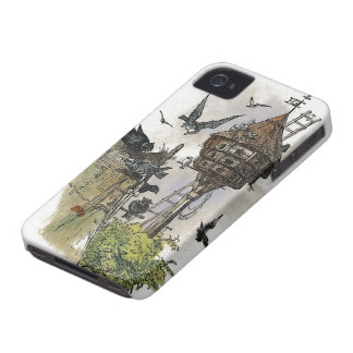 Caso del iPhone 4 de la pintura del Birdhouse del iPhone 4 Case-Mate Carcasas