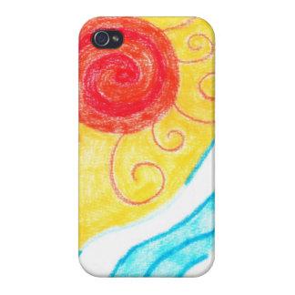 Caso del iPhone 4 de la playa del verano iPhone 4 Protector