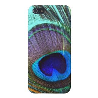 caso del iPhone 4 de la pluma del pavo real iPhone 5 Funda