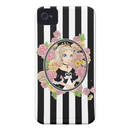 Caso del iPhone 4 de la princesa del cisne (negro) Case-Mate iPhone 4 Coberturas