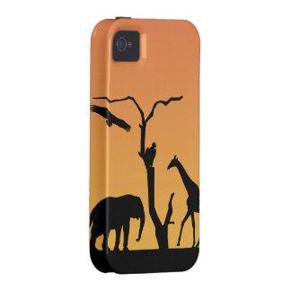 Caso del iphone 4 de la puesta del sol de la iPhone 4 fundas