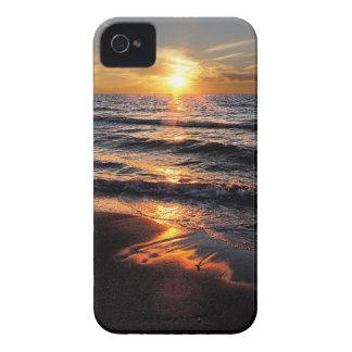 Caso del iPhone 4 de la puesta del sol de la playa iPhone 4 Carcasas