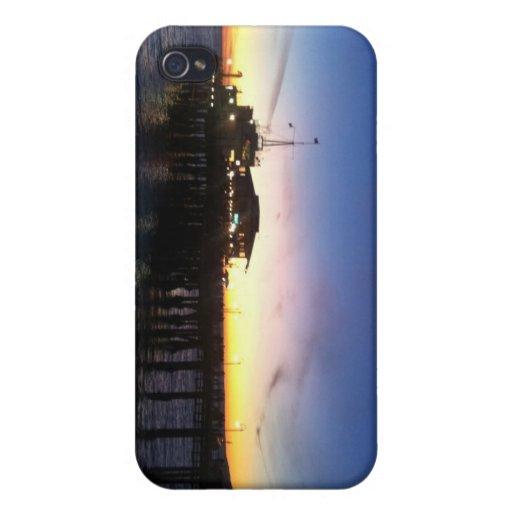 Caso del iPhone 4 de la puesta del sol del embarca iPhone 4/4S Carcasas