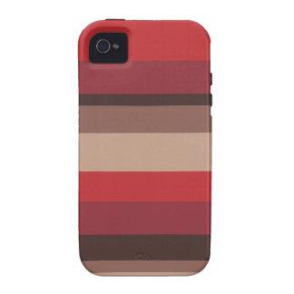 Caso del iPhone 4 de la raya del arándano del otoñ Case-Mate iPhone 4 Fundas