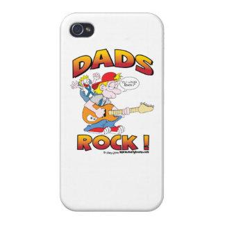 Caso del iPhone 4 de la roca de los papás iPhone 4 Fundas