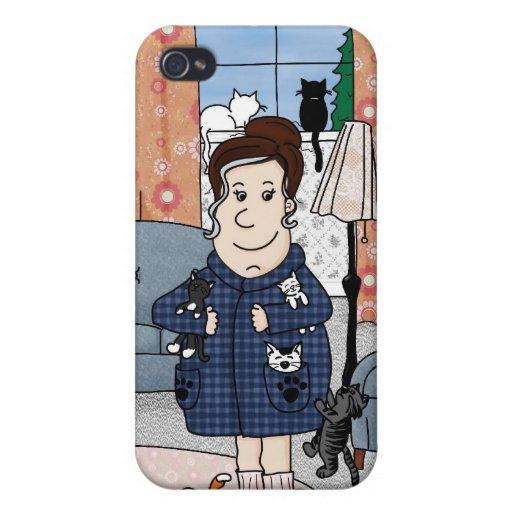 """Caso del iPhone 4 """"de la señora loca del gato"""" iPhone 4 Coberturas"""