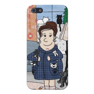 """Caso del iPhone 4 """"de la señora loca del gato"""" iPhone 5 Carcasa"""