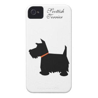Caso del iphone 4 de la silueta del perro de iPhone 4 Case-Mate cárcasas