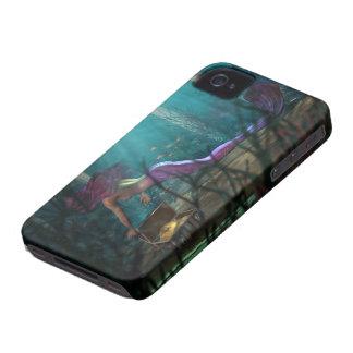 Caso del iPhone 4 de la sirena y del tesoro ID/CC Case-Mate iPhone 4 Funda